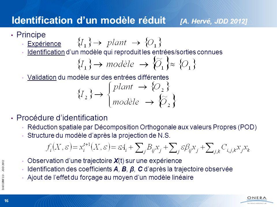Identification d'un modèle réduit [A. Hervé, JDD 2012]